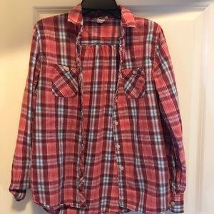 XS Levi plaid shirt